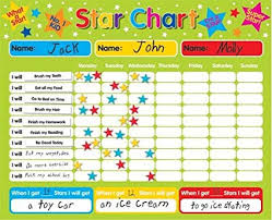 Childrens Dvd Chart Magnetic Reward Star Chart Suitable For Upto 3 Children Rigid Board 40 X 30cm With Hanging Loop