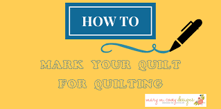 Marking Your Quilt for Quilting - Mary M. Covey Designs & How to Mark Your Quilt for Quilting. Marking ... Adamdwight.com