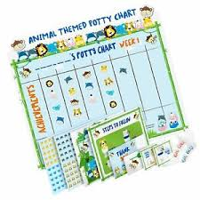 Details About Potty Training Chart For Toddlers Fun Animal Design Reward Your Child S