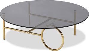 memoire coffee table smoked glass top