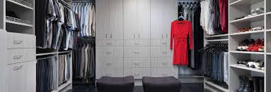 custom concrete flat panel walk in closet