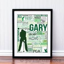 golf print personalized golf typography print golf gift 11 x 14 22 00