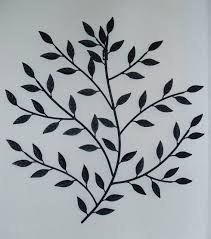 metal wall art leaves branch black wall art free
