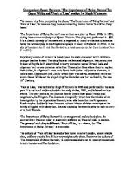 comparison essay between the importance of being earnest by  page 1 zoom in