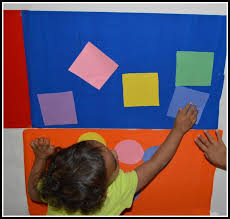 ... wall to stick the shape. toddler math