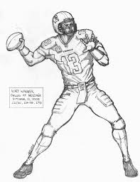 Inspirational Football Player Coloring Pages 47 For Coloring Books ...