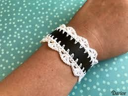 crocheted diy leather cuff bracelet supplies