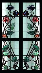 stained glass sidelights details about rare art antique fl stained glass sidelights stained glass window stained glass