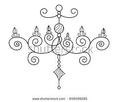 drawn chandelier cartoon 3282964