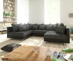 Couch Clovis Schwarz Wohnlandschaft Modulares Sofa Aus Modulsystem