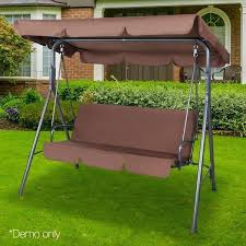 swing canopy 3 outdoor garden chair swinging bench seat coffee covers frame connectors swing canopy