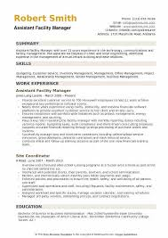 Facility Manager Resume Samples Assistant Facility Manager Resume Samples Qwikresume