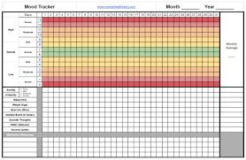 Mood Chart Download Mental Health Diary