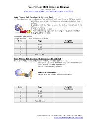 Free Exercise Ball Chart Free Fitness Ball Exercise Charts Go To Website Exercise