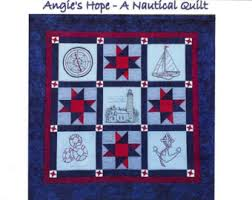 Nautical quilt | Etsy & Angie's Hope A Nautical Quilt Pattern - 5 Hand Embroidery Blocks, Label &  Quilt Finishing Adamdwight.com