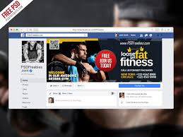 Free Facebook Covers Templates Gym Fitness Facebook Fanpage Cover Template Psd Psdfreebies Com