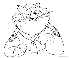 Free printable coloring pages for kids! Zootopia Coloring Pages To Print For Free Coloring Pages For Kids