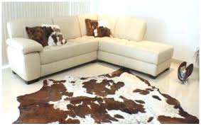 cow skin rugs animal faux with head