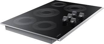 electric cooktop. Delighful Electric Samsung NZ30K6330RS  5Burner Electric Cooktop With Stainless Trim For