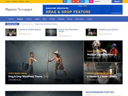 Free Html Newspaper Template Best Free Magazine Templates 2018 The Bootstrap Themes