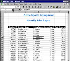 sales report example excel updating excel from the web