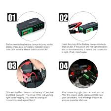 18000mah car jump starter booster mini battery charger power bank Sure Start Battery Charger Diagram battery capacity 18000mah output voltage for auto start 12v charging mode cc cv 15v 1a size 181 4*99*42mm (7 14*3 9*1 65in) usb port dual usb output Sure Start Battery Charger Heavy Duty
