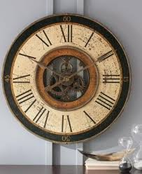 brass works wall clock grandin road
