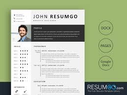 Resume Modern Ex Fotis Modern Gray Resume Template Resumgo Com