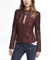 jacket express oxblood leather medium moto