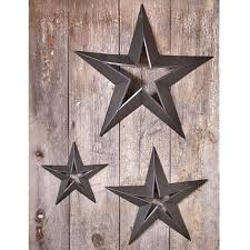 24 metal rustic dimensional barn star indoor outdoor wall home