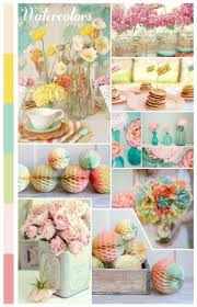 Vintage Baby Shower Decoration Vintage Watercolor Palette Summer Baby Shower Eyeheartprettythings