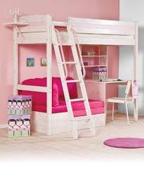 bed and desk combo teens | Trendy 28 Whitewash Loft Bed with Desk & Sofa Bed