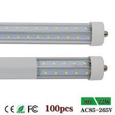 T12 Led Tube Light Us 1557 89 Led Tube Light T8 Fa8 Single Pin V Shape Double Row 2 4m 8ft Led Bar Lamp Replace Fluorescent Bulb T10 T12 Cold White Clear 72w In Led