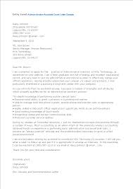 Recommendation Letter For Office Assistant Free Entry Level Administrative Assistant Application Cover Letter