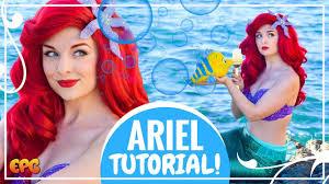 disney s little mermaid makeup tutorial w ariel cosplay mermaid ls