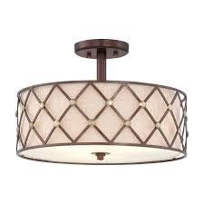 modern semi flush ceiling lights modern copper cross ceiling light with fabric inner shade modern semi