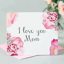 Mothers Greeting Card New Arrival Letters Printing Mothers Day Postcards Love Mom Gifts