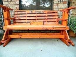 wooden garden glider bench porch handmade southern style wood swing 8 plans