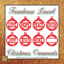 You can download in.ai,.eps,.cdr,.svg,.png formats. Laurel Christmas Ornaments Farmhouse Christmas Ornaments Christmas O Vinyl Cutting Inspiration