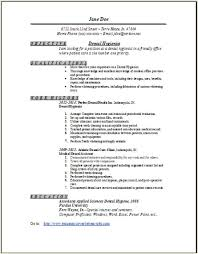 Sample Resume For Dentist