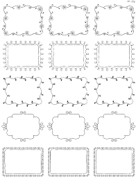 Labels With Border Printable Doodle Borders Labels By Inktreepress Free