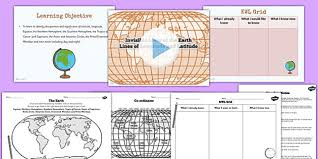 Lines Of Latitude And Longitude Teaching Pack Geography Maps
