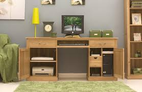 hidden home office. conran solid oak hidden home office twin pedestal desk