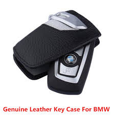 amazing genuine leather car key case sport line fob holder for bmw 2 3 5series x3 silve 2017 2018