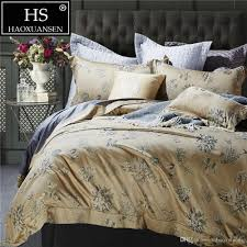 100 percent cotton jacquard bedding chinese brush painting flowers design sheets duvet cover pillowcase queen king size black and white bedspread blue and