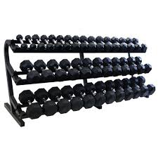 Rubber Coated Hex Dumbbell Set With Rack Enchanting TROY 3232 Lb Rubber Coated Hex Dumbbell Set With Rack