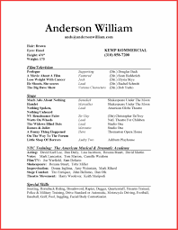 Beginner Actor Resume Sample Therpgmovie