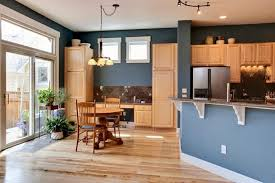 painting kitchen wallsGray Kitchen Walls With Oak Cabinets  Outofhome
