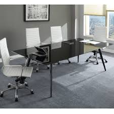glass table top png. lorell black glass conference table top shown in setting with base ; upc: 035255596282 png