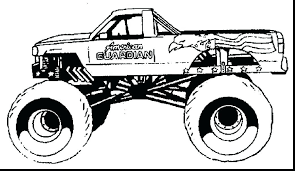 Monster Truck Coloring Pages To Print Out Pdf Grave Digger Trucks